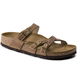 Birkenstock Birkenstock Franca Oiled Leather (Women - Regular) - Tobacco