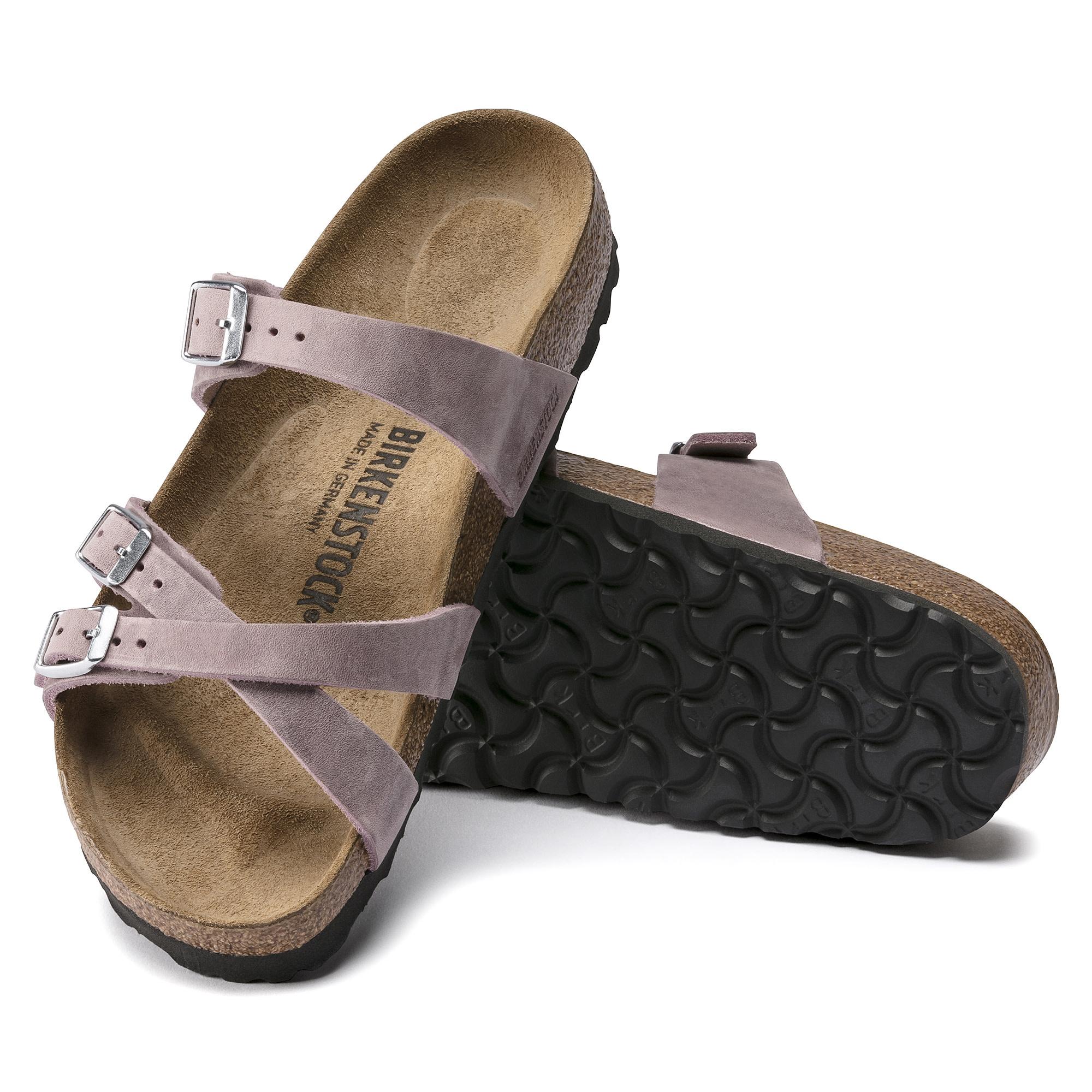 Birkenstock Birkenstock Franca Oiled Leather (Women - Narrow) - Lavander Blush