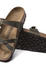 Birkenstock Birkenstock Franca Oiled Leather (Femmes - Étroit) - Jade
