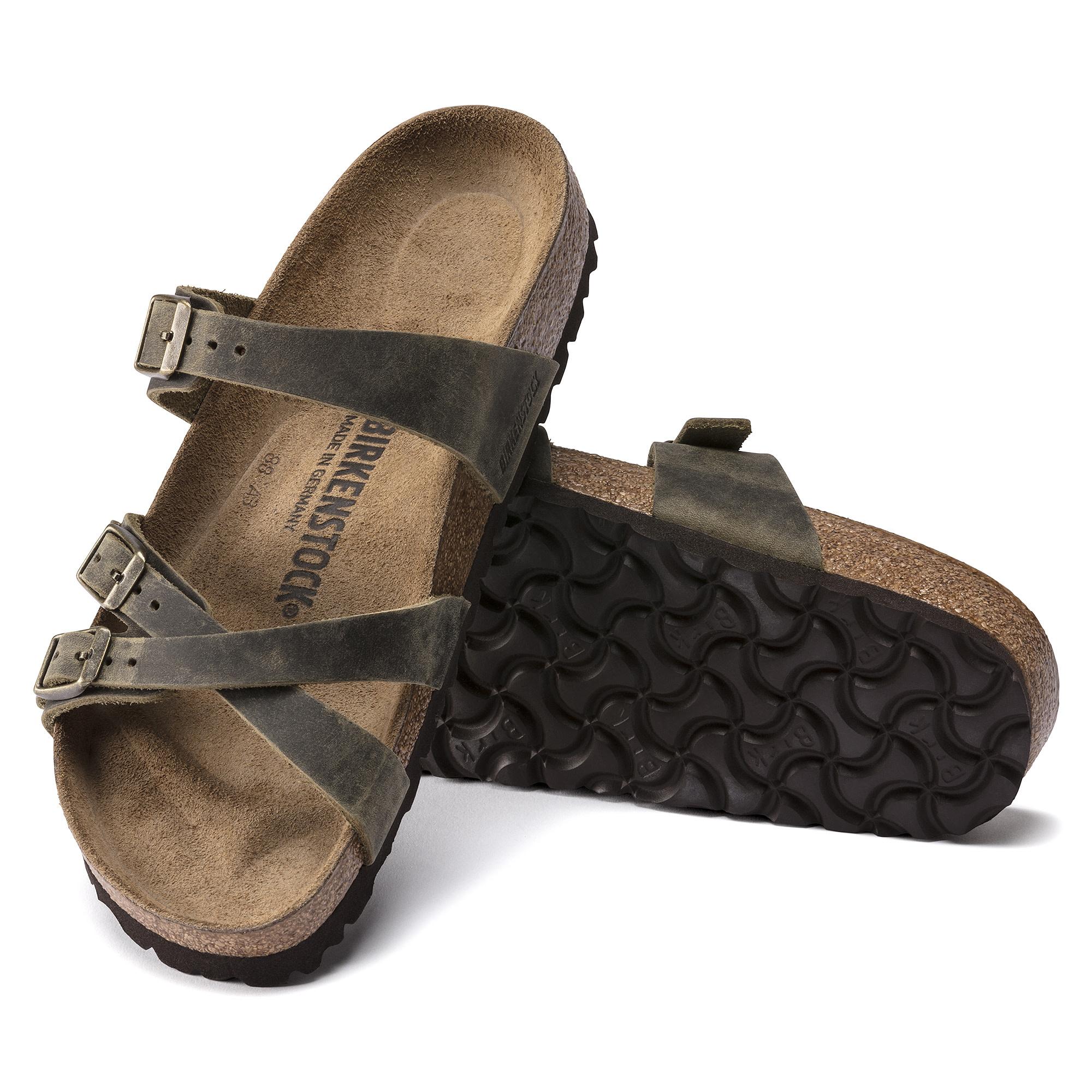 Birkenstock Birkenstock Franca Oiled Leather (Women - Narrow) - Jade