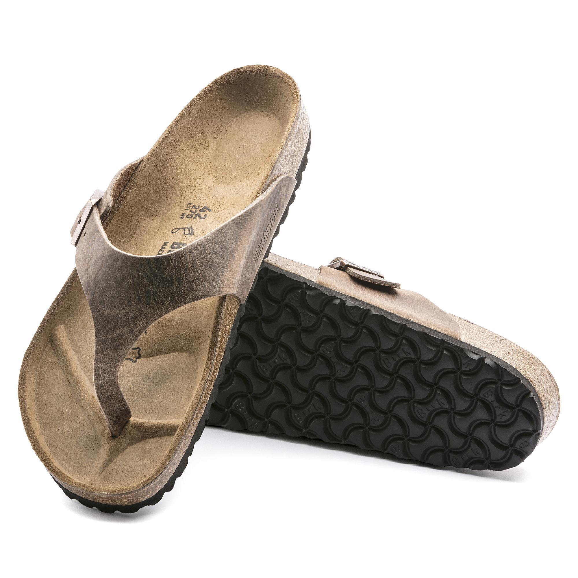 Birkenstock Birkenstock Como Oiled Leather (Hommes - Régulier) - Tobacco