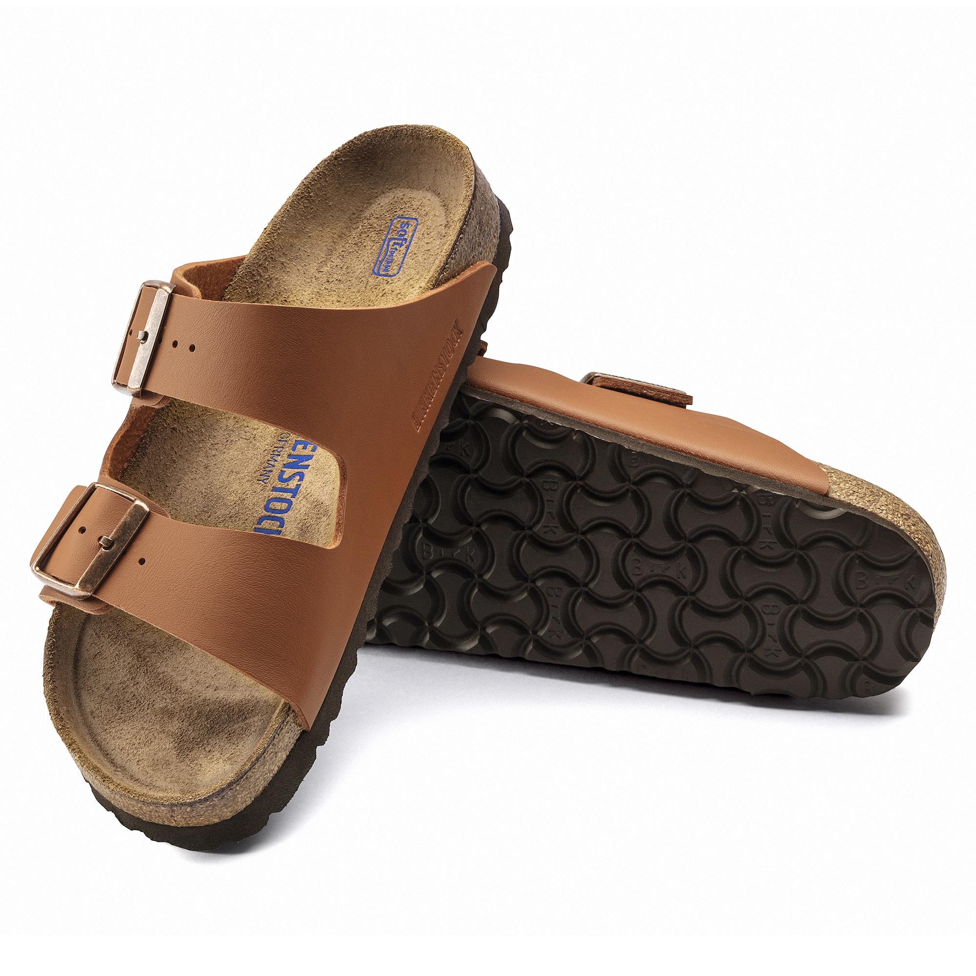 Birkenstock Birkenstock Arizona Soft Footbed - Birko-Flor (Hommes - Régulier) - Ginger Brown