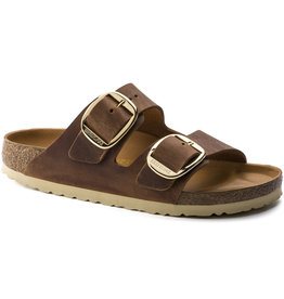 Birkenstock Birkenstock Arizona Big Buckle Antique Leather (Women - Narrow) - Cognac/Gold