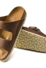 Birkenstock Birkenstock Arizona Big Buckle Antique Leather (Femmes - Étroit) - Cognac/Gold