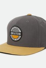 Brixton Brixton Terminal X MP Snapback - Black/Gold