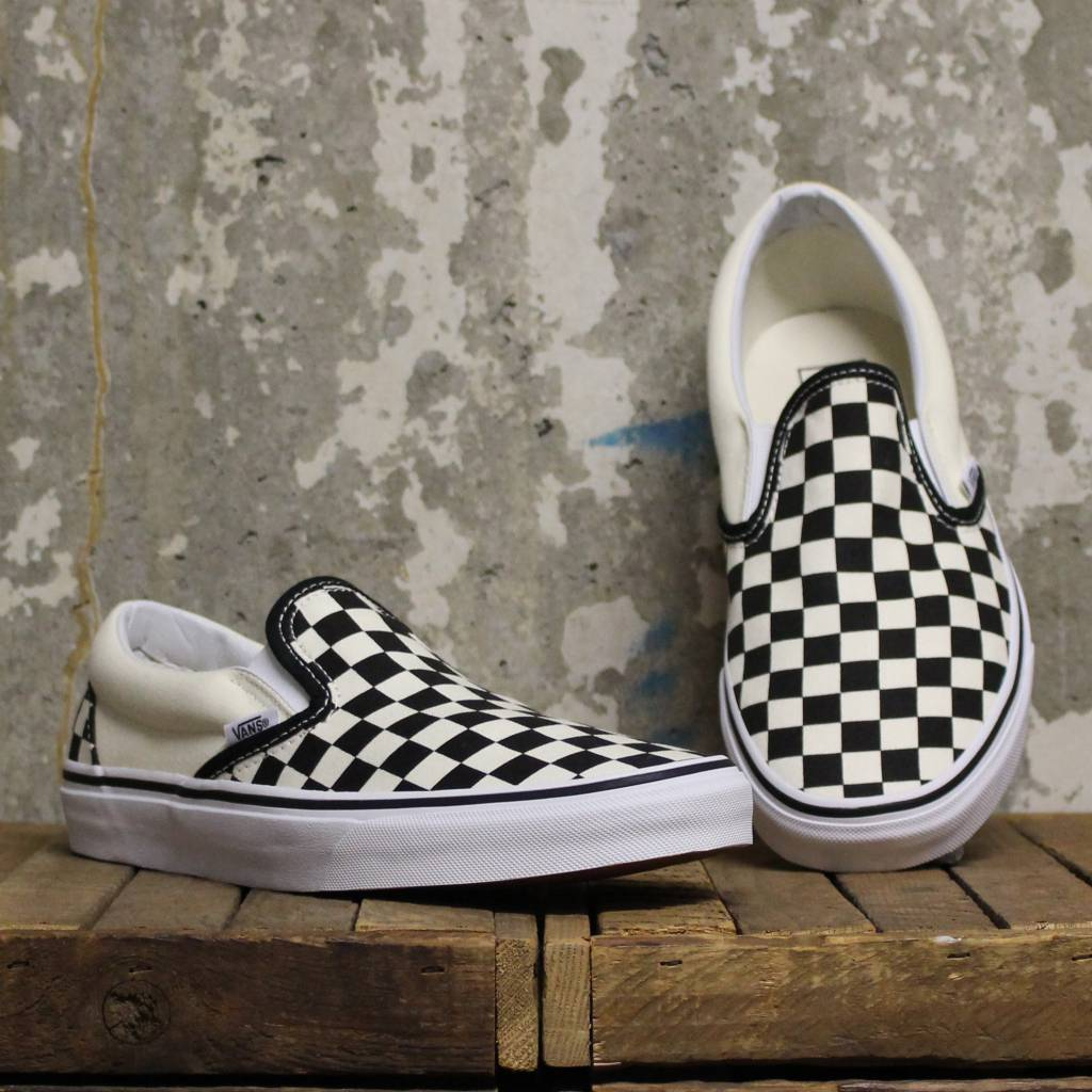 4d101c5c8234 Vans Checkerboard Slip-On - Black Off White Check - Bottes et Baskets