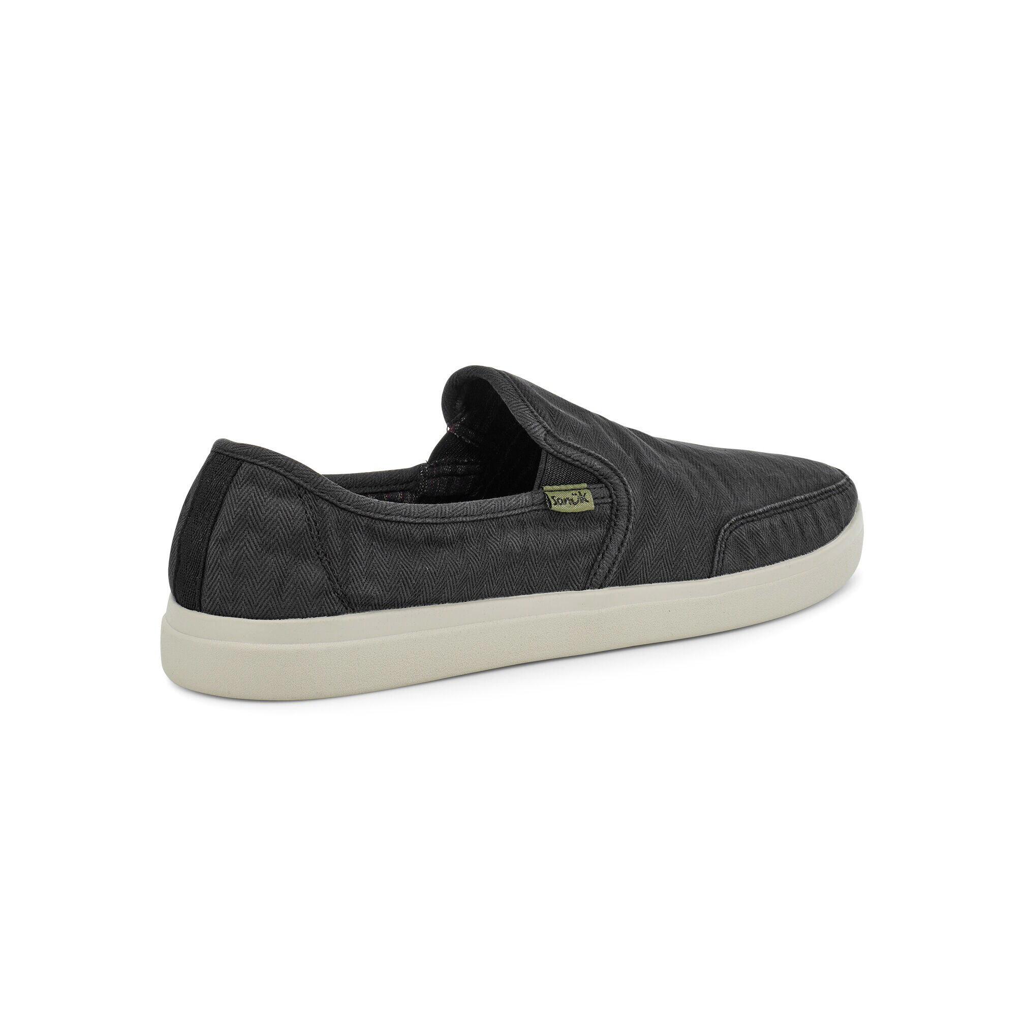 Sanuk Sanuk Vagabond Slip-On Sneaker Wash- Black