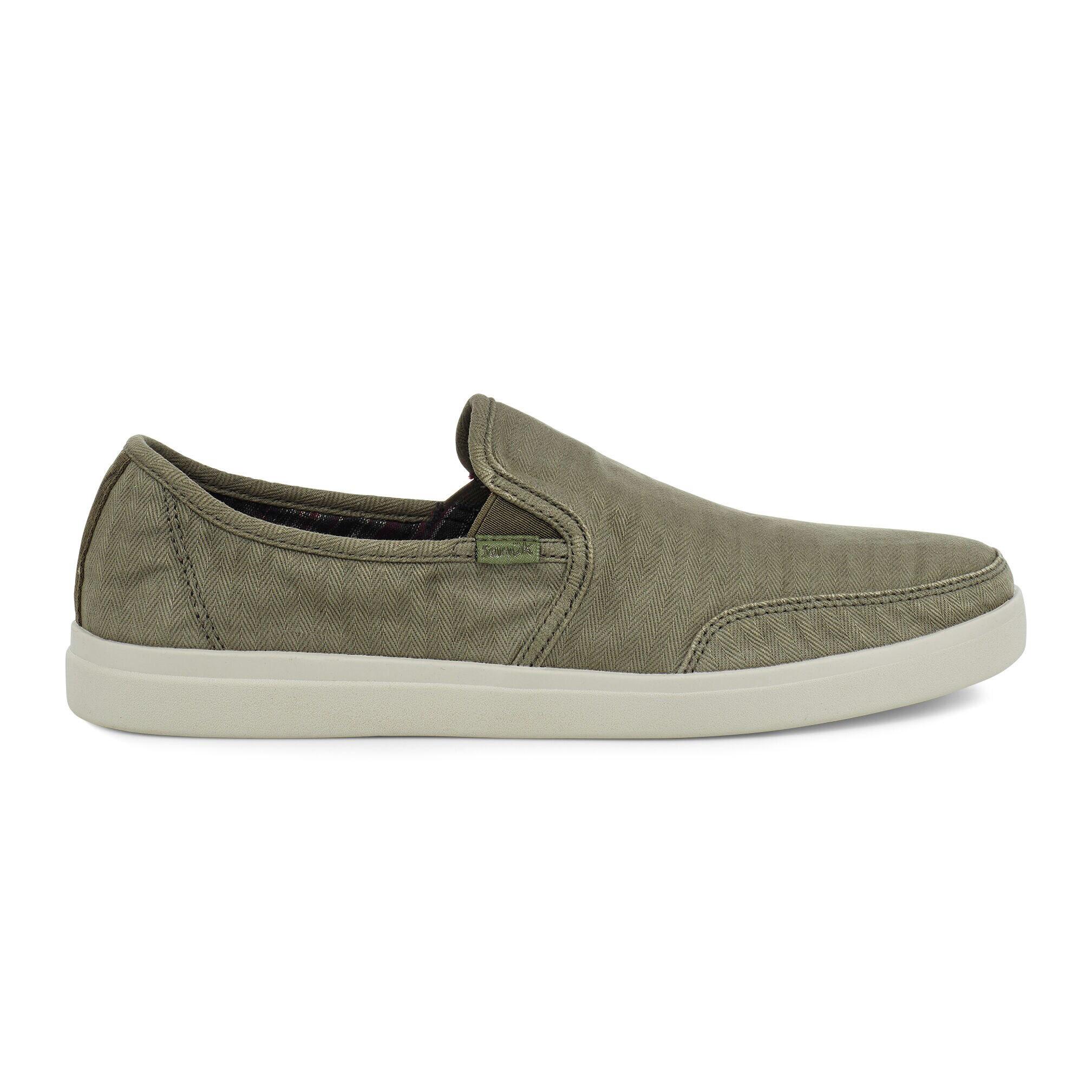 Sanuk Sanuk Vagabond Slip-On Sneaker Wash- Olive