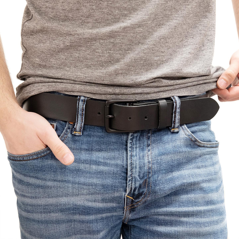 Fab Fab - Leather belt - Black