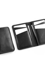 Fab Fab - Portefeuille vertical en cuir noir