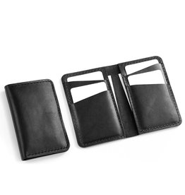 Fab Fab - Vertical leather wallet - Black