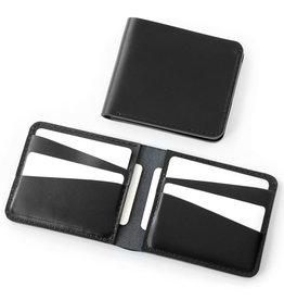 Fab Fab - Horizontal leather wallet - Black