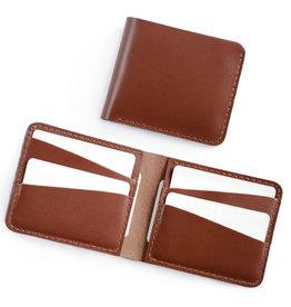 Fab Fab - Portefeuille horizontal en cuir brun