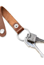 Fab Fab - Porte-clés en cuir brun