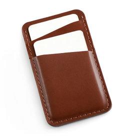 Fab Fab - Porte-cartes en cuir brun