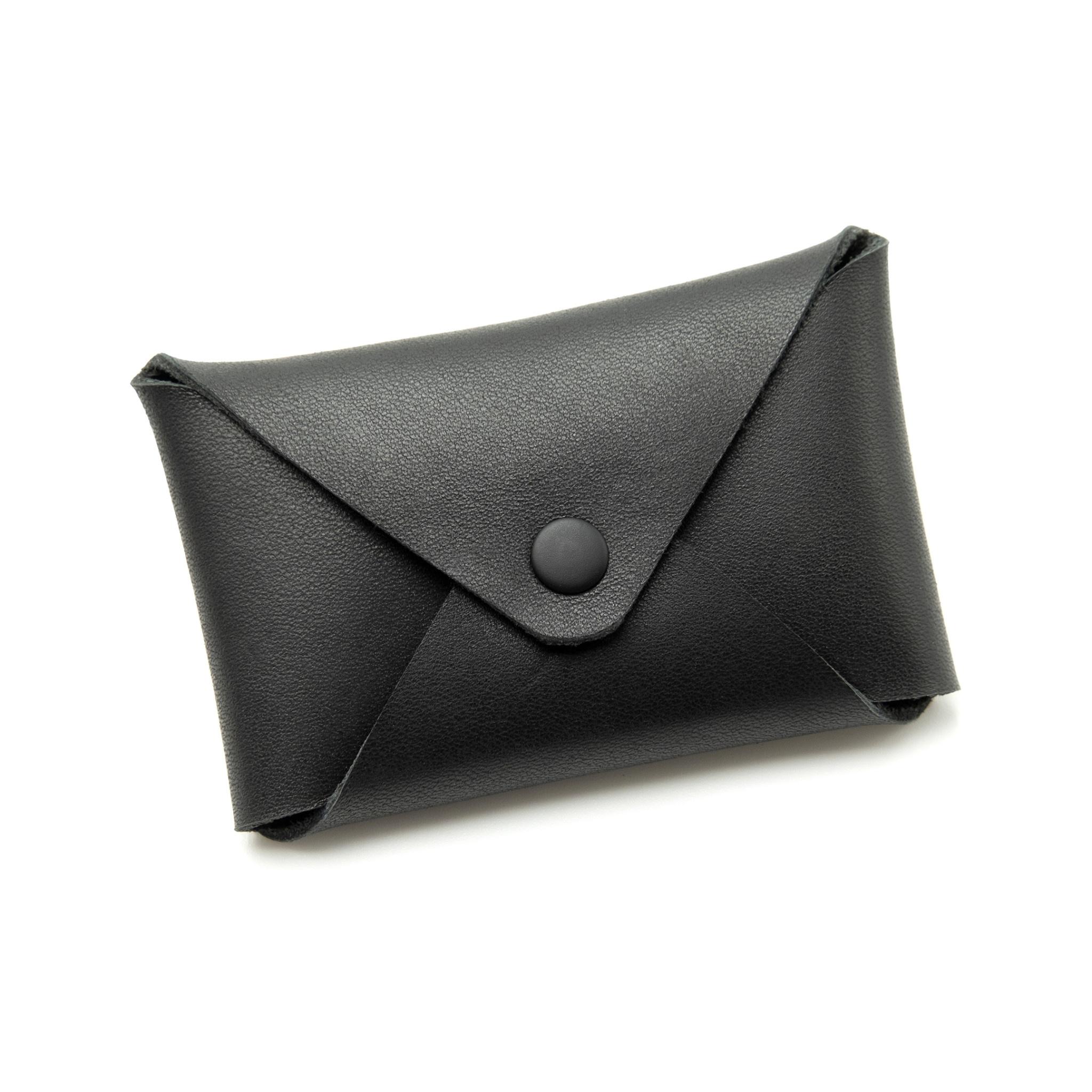 Fab Fab - Étui à cartes en cuir noir