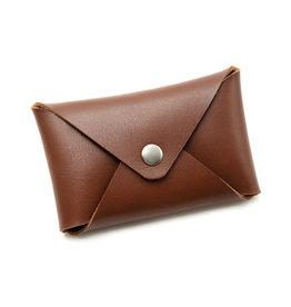 Fab Fab - Étui à cartes en cuir brun