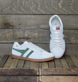 Gola Gola Equipe Suede - Off White/Dark Green/Gum