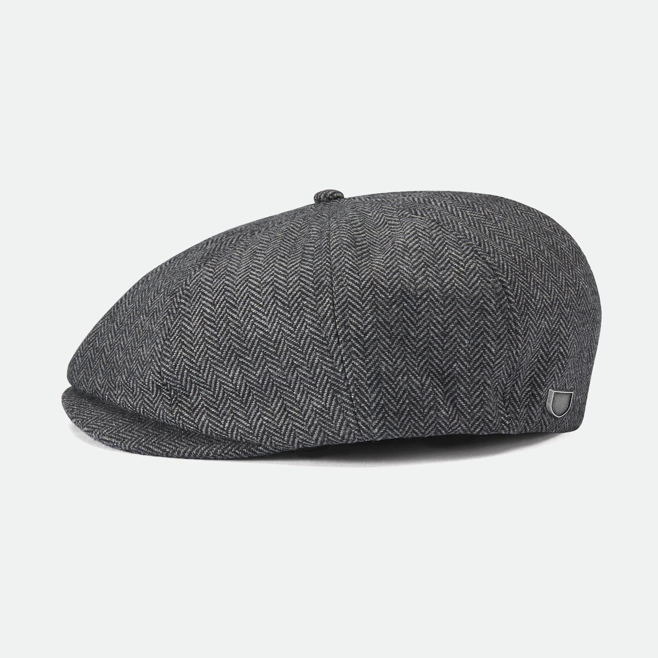 Brixton Brixton Brood Snap Cap - Grey/Black Herringbone