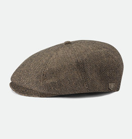 Brixton Brixton Brood Snap Cap - Brown/Khaki Herringbone