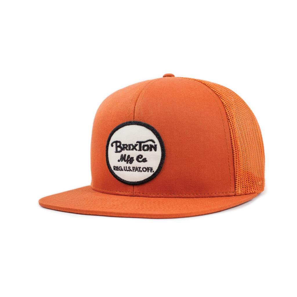 336cc963134 Brixton Wheeler Mesh Cap - Burnt Orange - Bottes et Baskets