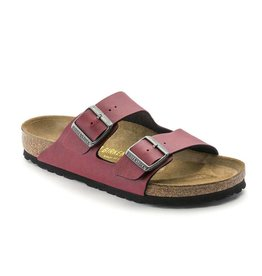 Birkenstock Birkenstock Arizona Birko-Flor (Women - Regular) - Pull Up Bordeaux