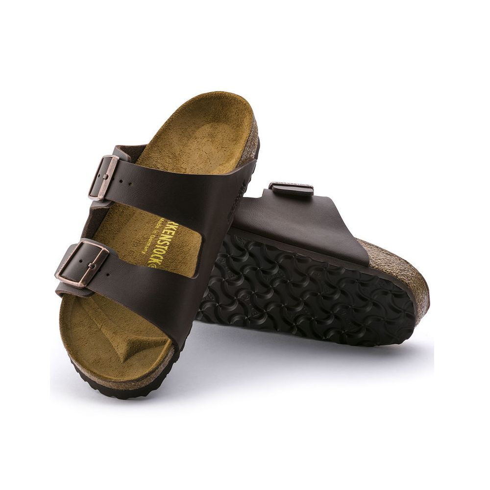 Birkenstock Birkenstock Arizona Birko-Flor (Men - Regular) - Dark Brown