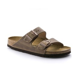 Birkenstock Birkenstock Arizona Oiled Leather (Women - Narrow) - Tobacco Brown