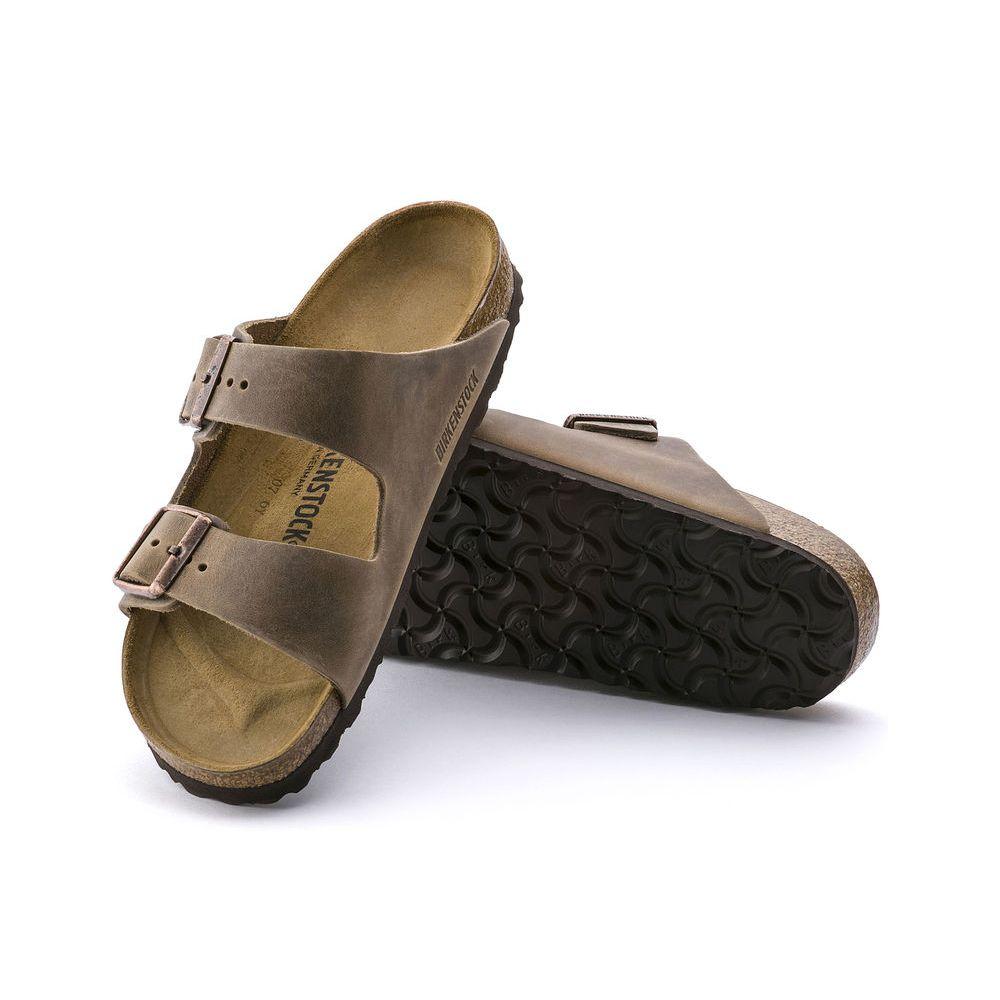 Birkenstock Birkenstock Arizona Oiled Leather (Women - Narrow) - Tobacco Brown