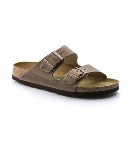 Birkenstock Birkenstock Arizona Oiled Leather (Men - Regular) - Tobacco Brown