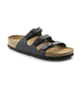Birkenstock Birkenstock Florida Soft Footbed Birko-Flor (Women - Narrow) - Black