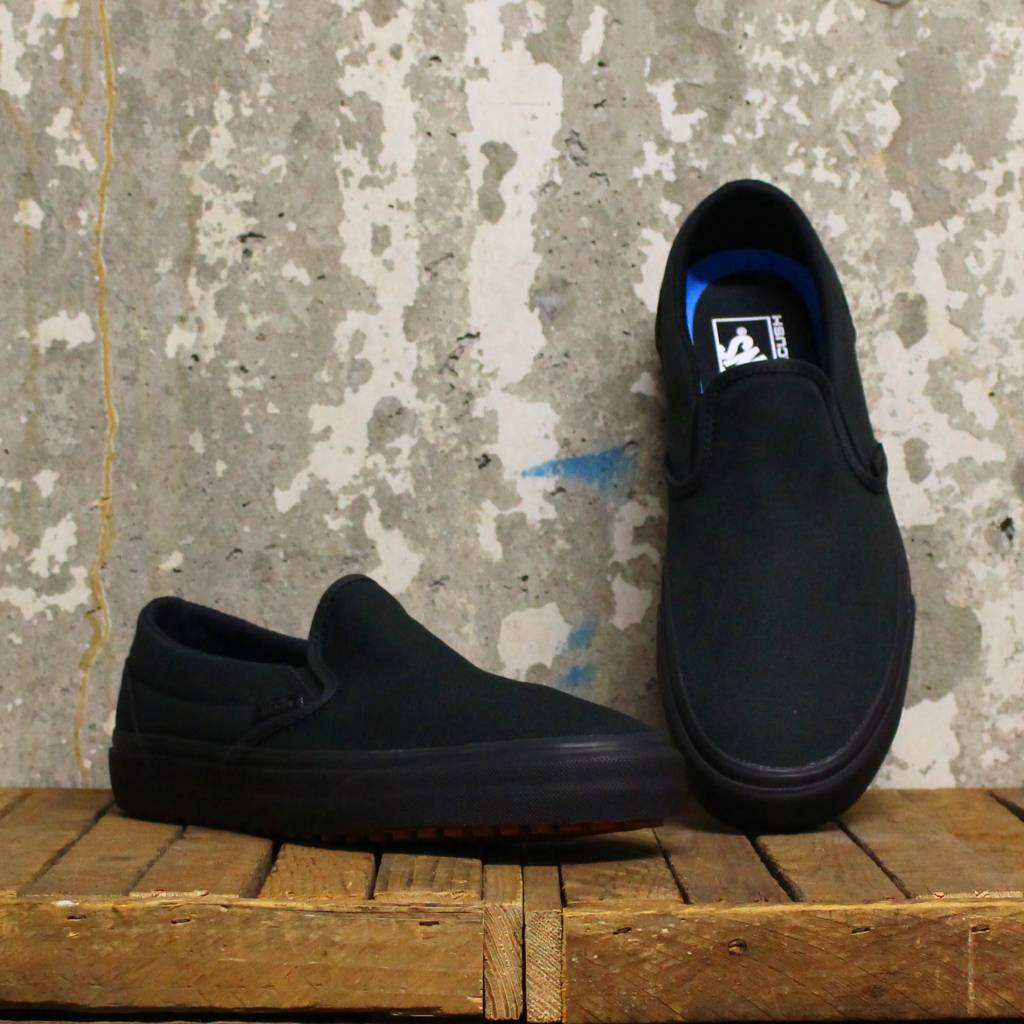 37d1ae09ad9f6c Vans (Made for the Makers) Classic Slip-On UC - Black Black - Bottes ...