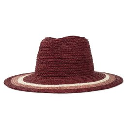 Brixton Brixton Hampton Fedora - Red/Blush/Tan