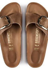 Birkenstock Birkenstock Madrid Big Buckle Antique Leather (Femmes - Étroit) - Cognac/Gold