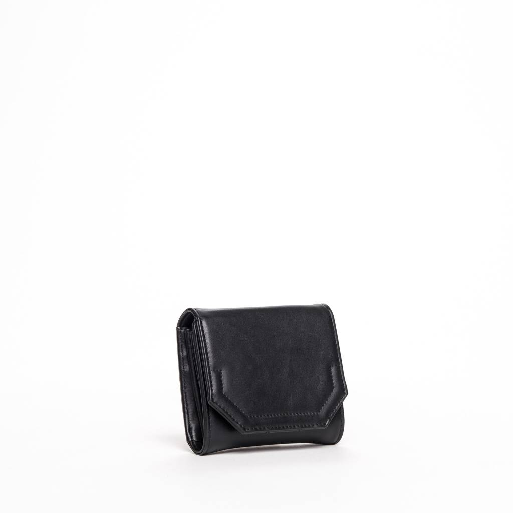 Colab Colab Rock & Chain Small Flap Wallet (#6153) - Black