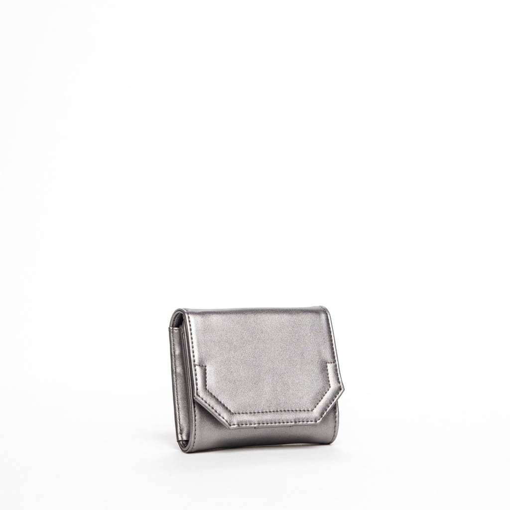 Colab Colab Rock & Chain Small Flap Wallet (#6153) - Pewter