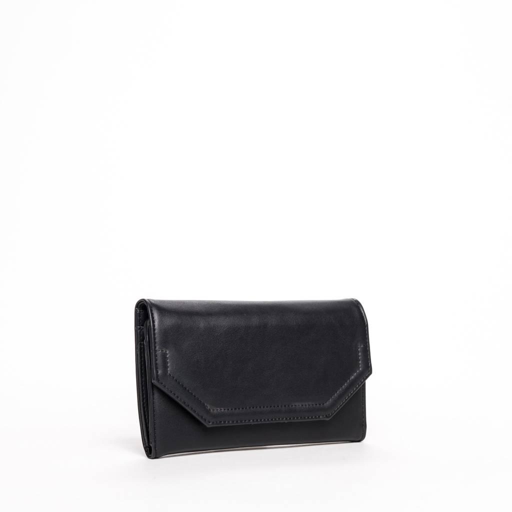 Colab Colab Rock & Chain Large Flap Wallet (#6154) - Black