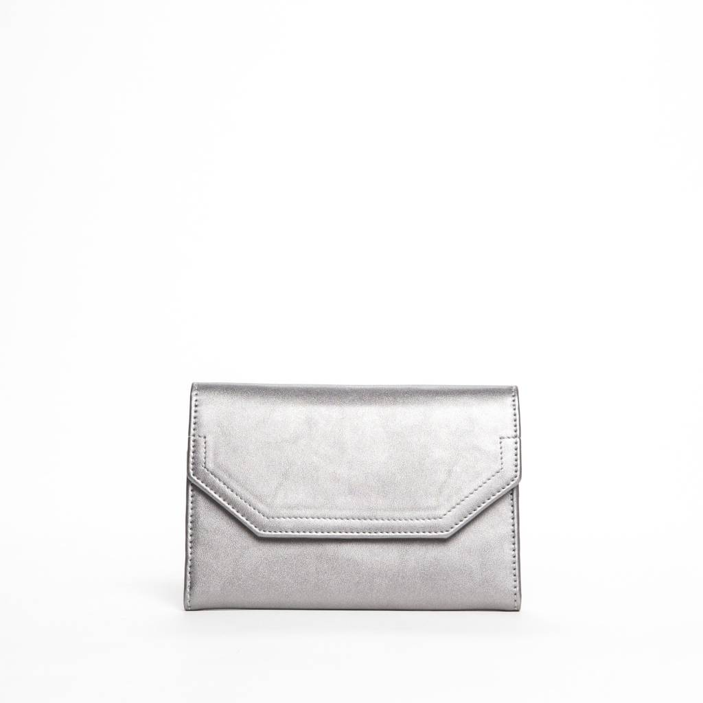 Colab Colab Rock & Chain Large Flap Wallet (#6154) - Pewter