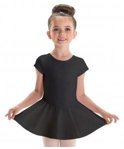Motionwear Keyhole Heart Black Skirt Leotard