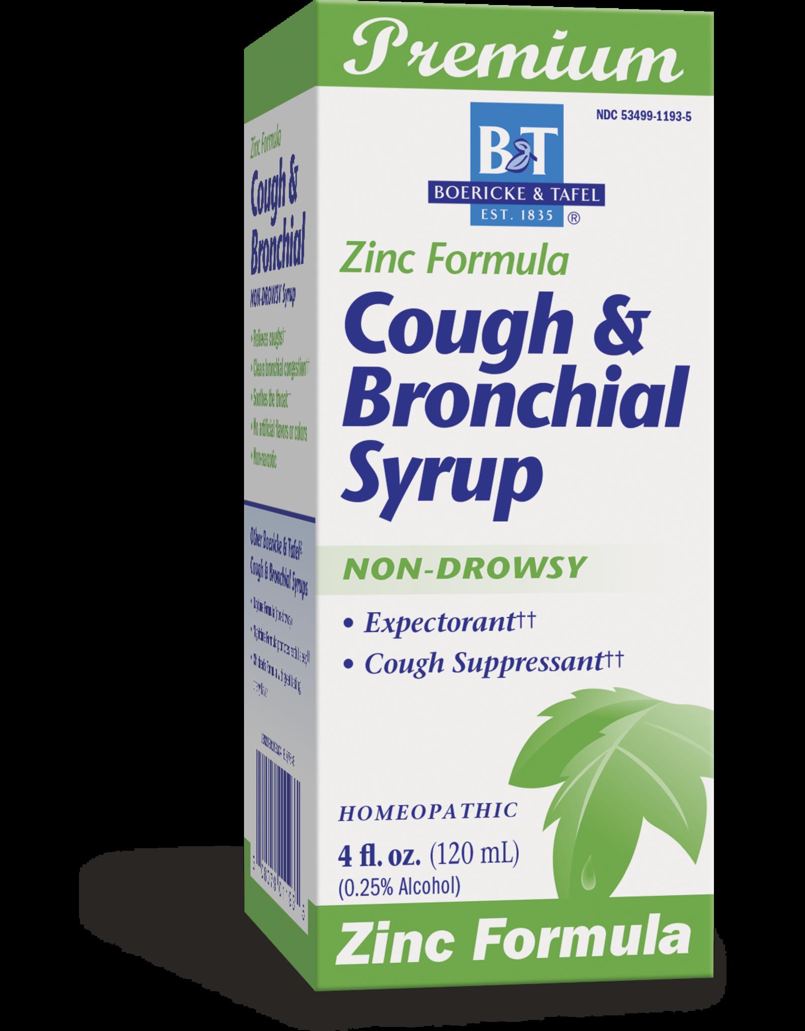 Cough & Bronchial Syrup, ZINC formula by B&T® - 4 oz