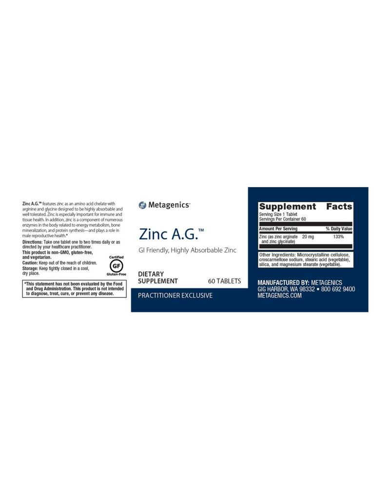 Zinc A.G.™ 60 ct