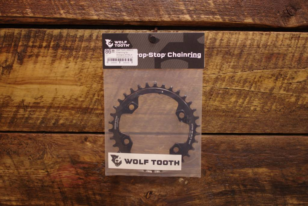 Wolftooth Drop Stop 96BCD Chainring for Shimano XT/SLX M8000/M7000