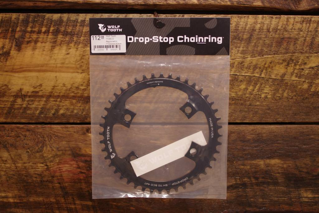 Wolftooth Drop Stop 110BCD Asymmetric Chainring 4-bolt for Shimano