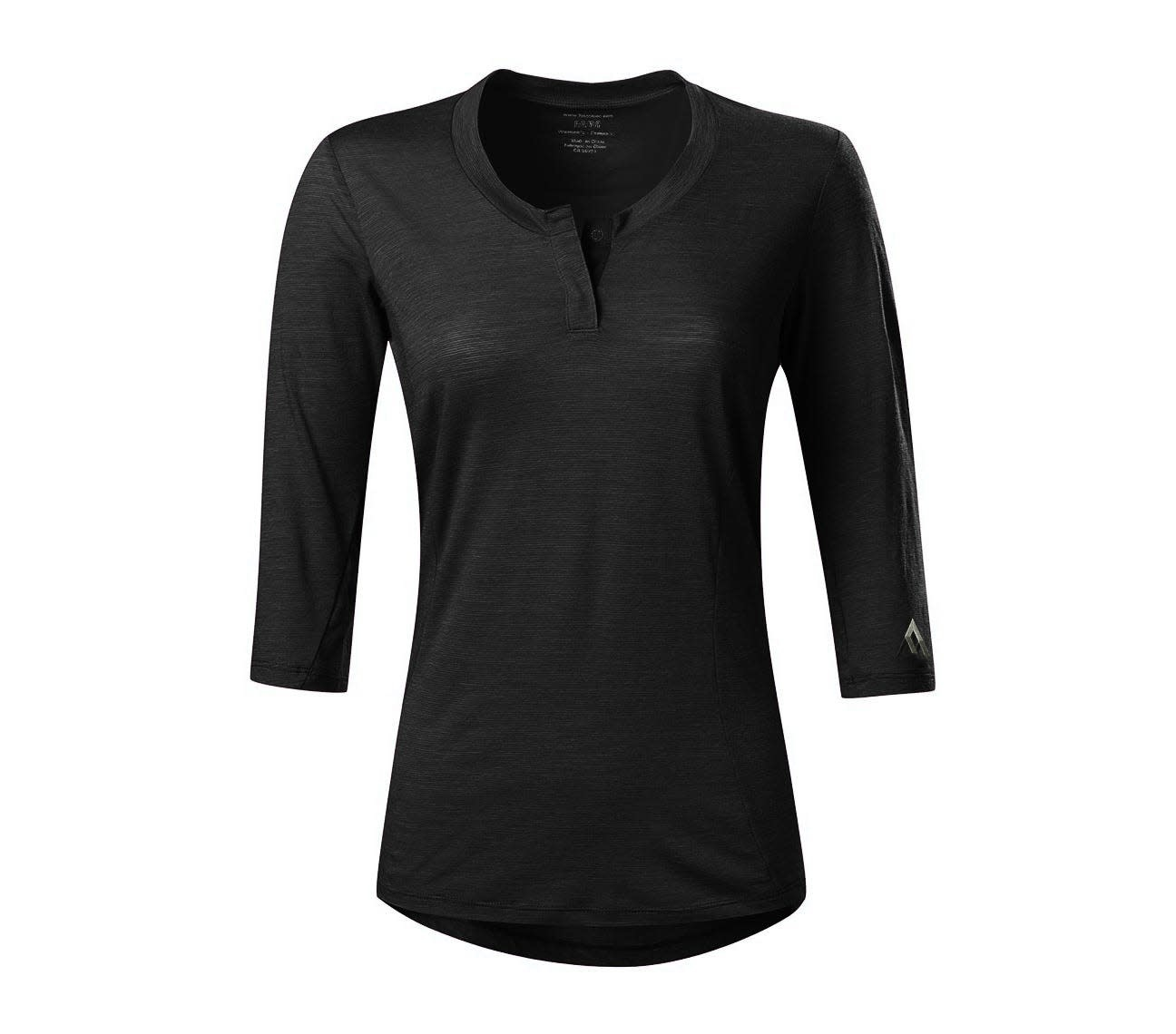 7 Mesh, Desperado Henley, Women's, Black (SM)