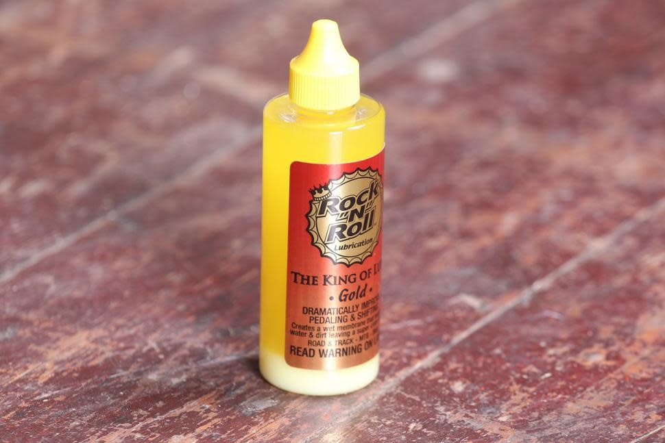 Rock-N-Roll Gold Bike Chain Lube - 4 fl oz, Drip