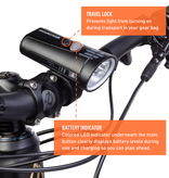 Light and Motion Seca Comp 2000 Rechargeable Headlight: Black Pearl