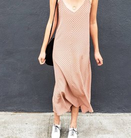 Ali Golden Slip Midi Dress
