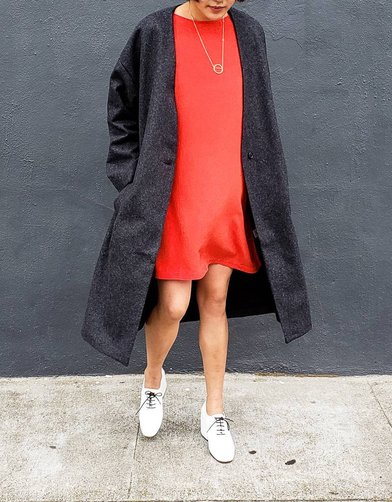 Ali Golden V Neck Coat