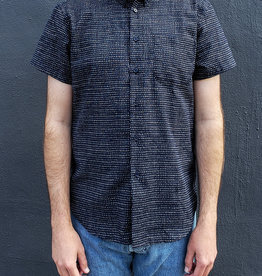Naked and Famous Denim Short Sleeve Easy Shirt in Kimono Chon Indigo