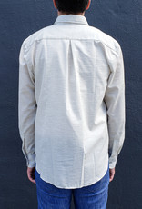 Naked and Famous Denim Long Sleeve Easy Shirt in Heather Gauze